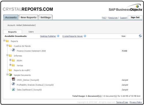 crystalreports_com una solucion para compartir documentos de SAP SME