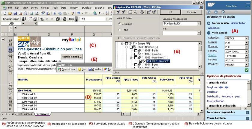 SAP BPC - Un Formulario para un proceso presupuestario