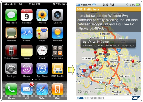 BNE Traffic, primera aplicación SAP para AppStore de Apple