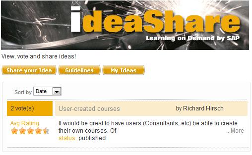 SAP IdeaShare, Buscando ideas por el mundo