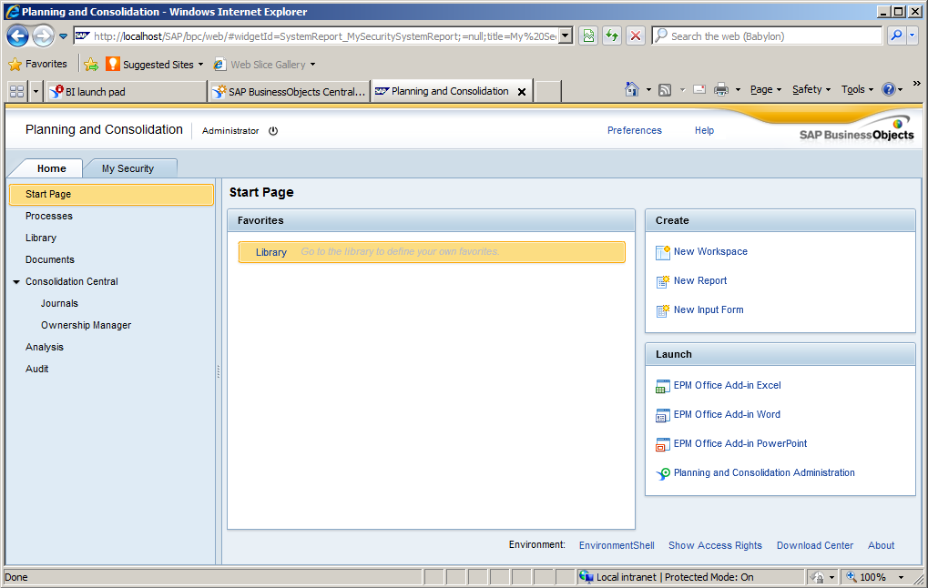 SAP Business Planning and Consolidation, version for SAP NetWeaver Community