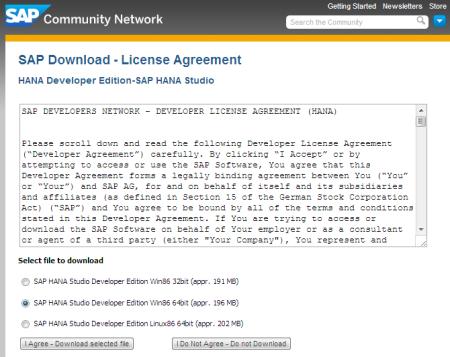 Descargando SAP HANA Studio  desde SAP SCN