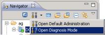 Editores de la perspectiva Consola de Administración de SAP HANA Studio