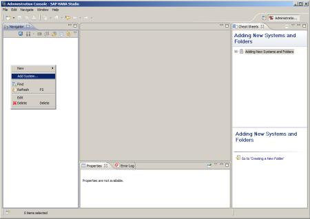 SAP HANA Studio - Conectar con un sistema SAP HANA