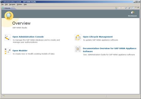 SAP HANA Studio - Instalado - Ventana Inicial