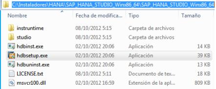 SAP HANA Studio - Instalador descomprimido