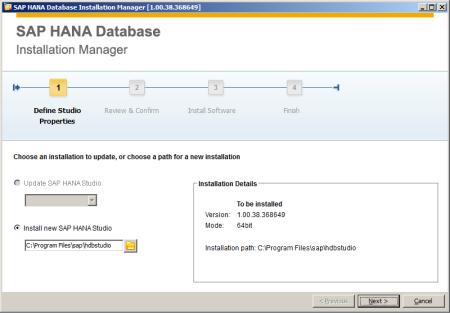 SAP HANA Studio - Instalando Paso 1