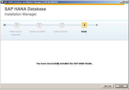 SAP HANA Studio - Instalando Paso 4