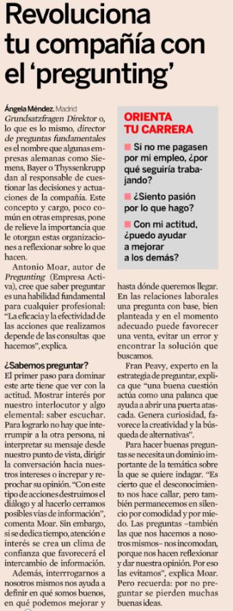 Artículo sobre Pregunting publicado en el diario Expansión