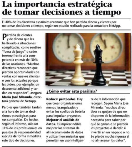 Revista Emprendedores enero-2013 (1) -  La importancia estratégica de tomar decisiones a tiempo