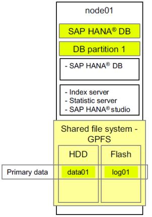 Un Sistema SAP HANA con un único nodo