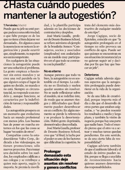 Articulo publicado en marzo 2013 en el diario Expansión