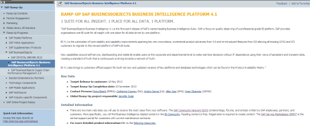 Ficha de ramp-up de SAP BusinessObjects BI 4.1