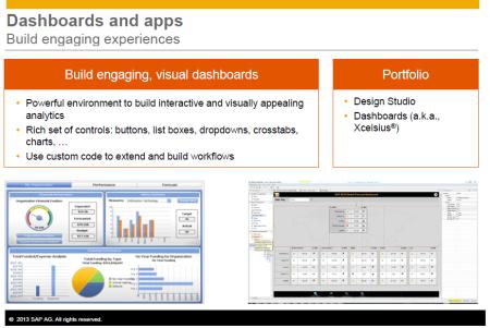 SAP Dashboards y SAP Design Studio componentes del portfolio de SAP BI para cuadros de mandos y aplicaciones analíticas