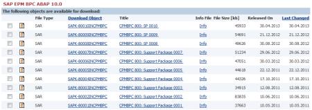 Actualizaciones de SAP BPC 10 NW
