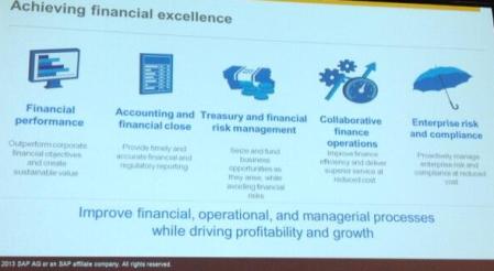 SAPPHIRENOW, La excelencia financiera