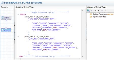 Muestra de la sintasis de SQLScript