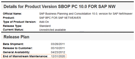 SAP BPC 10.0 nw