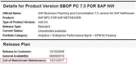 SAP BPC 7.5 nw