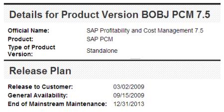 Ficha de SAP PCM 7.5