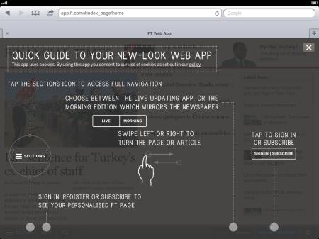 Pagina inicial de app.FT.com