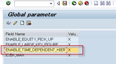 SAP BPC - TDH - Definición de nuevo parámetro global