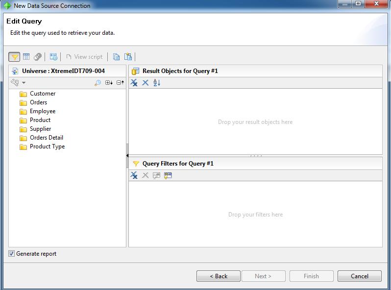 SAP Crystal Reports for Enterprise – Editor de Consultas