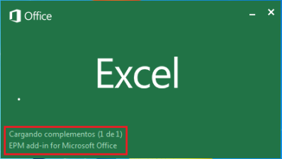 Cargando el EPM Add-in 10.0 SP15 en MS Excel 2013