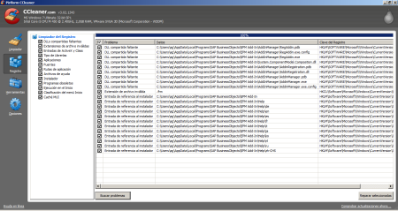 Limpiar el registro de Windows luesgo de desintalar el EPM Add-in