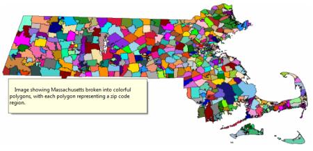 Muestra de una imagen diseñada utilizando Spatial Data de SAP HANA SPS06