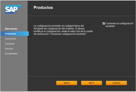 System Configuration Wizard - SCR02 - el asistente detecta cambios manuales en la configuración