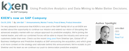 KXEN estrena logotipo como una SAP Company