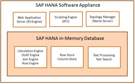 Principales capas de SAP HANA