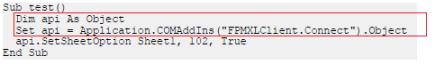 Nueva sintaxis para declarar variables objeto para acceder a la API del EPM Add-in