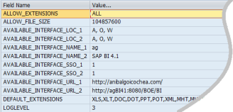 Parametros a nivel de Environment para personalizar hipervinculos en Launch Pad del entorno Web de SAP BPC 10.0 NW