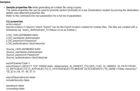 LCM Command line interface (LCM_CLI) de BI4.1 y BI4.0