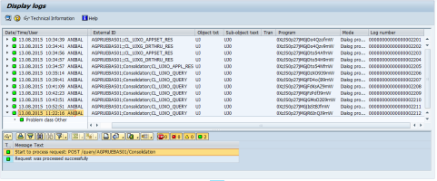 Consulta del log de SAP BPC a través de la transacción SLG1
