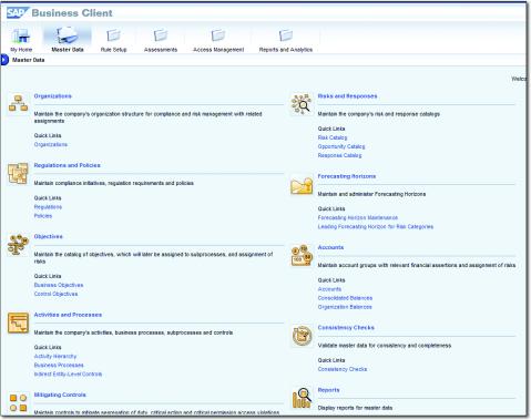 Datos Maestros del módulo SAP Process Control