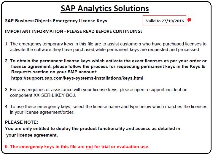 Licencias temporales de las aplicaciones SAP Analytics (SAP BI, SAP EPM y SAP EDM)