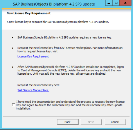 Nueva Licencia para SAP BusinessObjects BI 4.2 Sp02 y superiores